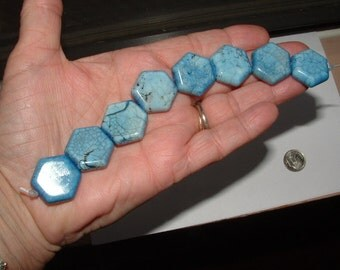 SALE----nice- beads- DENIM HOWLITE -thick gorgeous color - i call them blue jeans