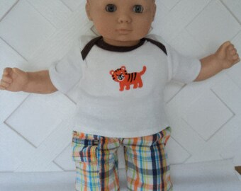 Bitty Baby Boy 2 pc. cute Tiger pants set, doll clothes