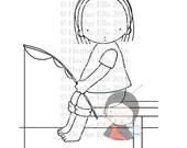 PI 071 Digital stamp, instant download, Digi stamp, Pure Innocence, crafting, Fishing, Fish