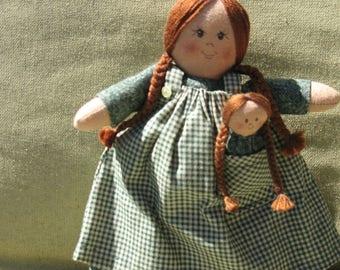 Adorable Rag Doll Mama and Baby