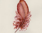 Soft bronze feather ~ RESERVED FOR NICOLE
