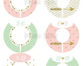 ON SALE 6 Closet Dividers Organizers Baby Girl Shower Gift Nursery Decor Mint Pink Blush Gold Arrow Heart Chevron Dots Tribal Baby Clothes