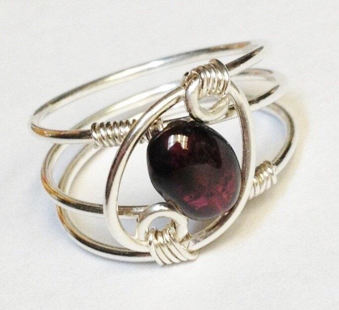 gemstone ring garnet ring garnet jewelry january