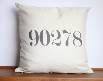 Customized Zip Code Number Pillow | Hometown Accent Moving Gift | Hard to Shop for | North America Travel Pillow | Unique Address Decor