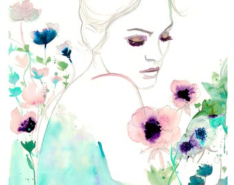 CLEARANCE ORIGINAL: Bloom Where You Are Planted, original watercolor painting