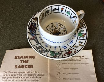 Fortune telling teacup & saucer