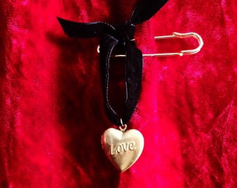 LOVE LOCKET ~ Customized Solid Perfume Scent Pendant Safety Pin