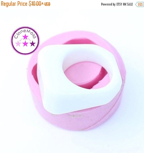 SALE 15% Beveled Rectangle Ring Mold; Size 6.75
