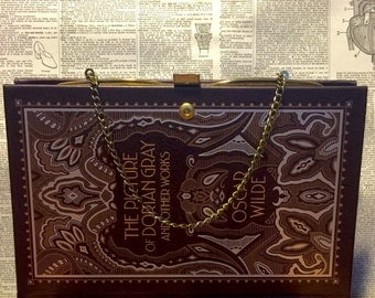 Literary Book Clutch The Picture of Dorian Gray by Oscar Wilde Gothic Book Purse Ready to Ship