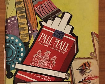 Vintage 1958 PALL MALL Cigaratte Ad Mary Blair