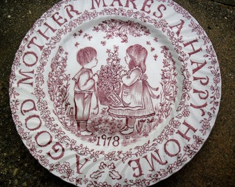 1978 Mother's Day Plate Pink