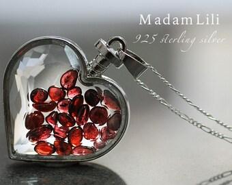 """925 silver necklace """"GRANAT"""""""