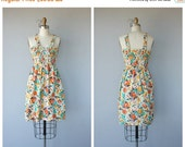 LAST CALL 50% OFF.. Vintage 1970s Dress | 70s Dress | 70s Sundress | 1970s Floral Day Dress | Cotton Sun Dress
