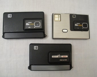 Vintage Lot of 3 Kodak Disc Cameras