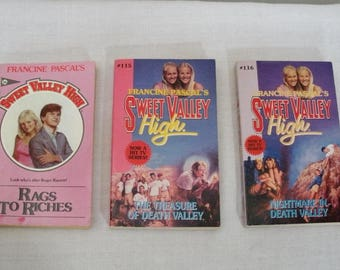 Vintage 3 Sweet Valley High Paperback Books - No. 16 115 116