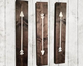 Bon Rustic Arrows, Wooden Arrows, Woodland Nursery, Reclaimed Wood, Rustic Wall  Art,