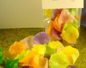 Soap  - Spring Bouquet Petal Soaps -Individual Rose Petal Soaps - Glycerin Soaps - Wedding Favor - Guest Soap - SoapGarden
