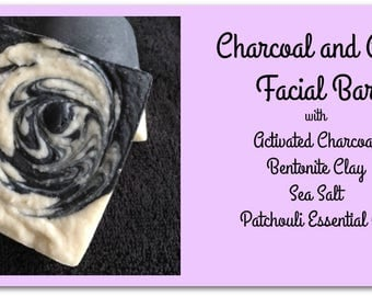Charcoal, Sea Salt and Clay Detoxifying Facial Bar