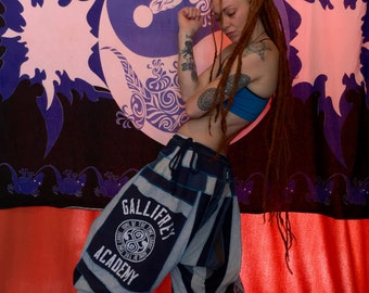 Dr Who Gallifrey Timelord harem pants upcycled cotton ooak