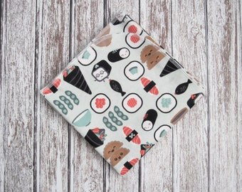 Ready to ship! Sushi Baby Receiving Blanket, Sushi Receiving Blanket, Sushi Baby Blanket
