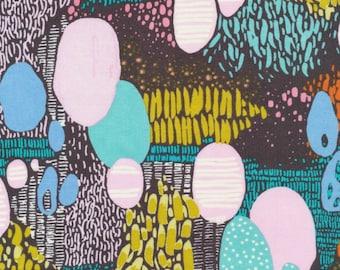 Cloud 9 Fabrics - Bird's Eye View by Sarah Watson - Doo Be Doo Be Doo in Black Organic