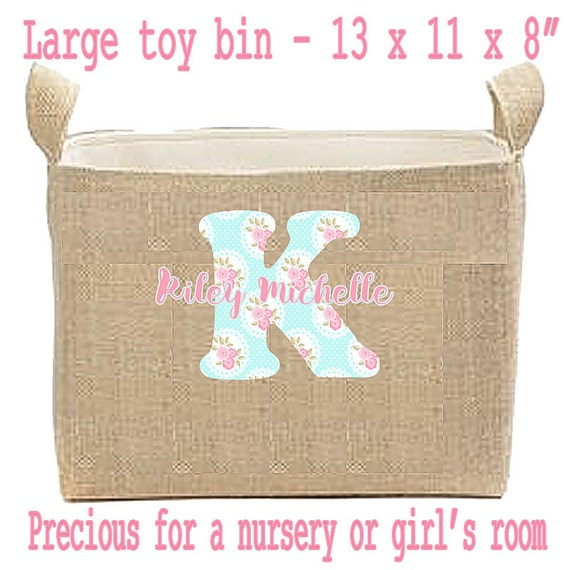 Personalized Easter Basket. Burlap Easter Bucket, Lined Easter Bag, Kids Easter, Large Easter Basket, Toy Bin, Bedroom Storage Bin, Decor