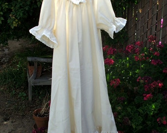 Renaissance Chemise Nightgown Womens XLg - 2X Prairie UnderDress Lace Trim Custom Made