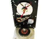 SPECIAL SALE! Hard Drive Clock has Rare Very Shape, Accented with Copper Disk Spindle.  Got Conversation Piece?