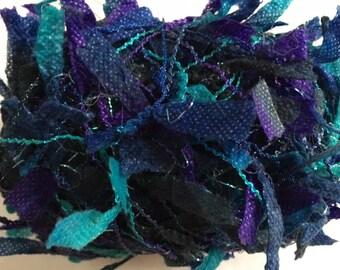 Crystal Palace Yarns Fling #9780 Ultra Blues - Paper Flag Metallic Sparkle 50gr 130 yds Turquoise Blues Purple