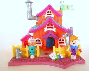 Complete Polly Pocket Animal Wonderland Barclay's Cottage Dog House Playset - Bluebird Toys 1994