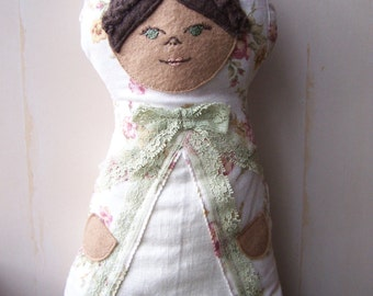Handmade Stuffed Little Traveler Doll *Rosalie*