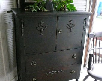 Wardrobe Chest of Drawers Vintage Tall Boy Dresser Poppy Cottage Painted Furniture Custom PAINT to ORDER