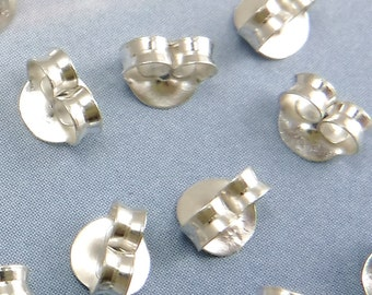20 pcs Sterling Silver Ear Nuts Ear Back 925 Sterling Silver Earnuts A-72