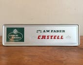 A. W. Faber Castell Vintage Pencil Tin with Pencils. Stein Bei Nürnberg, Germany.