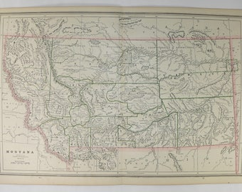Montana Map Etsy - Mt us map