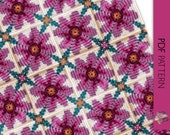 Happy spring floral solid granny square pdf downloadable crochet pattern