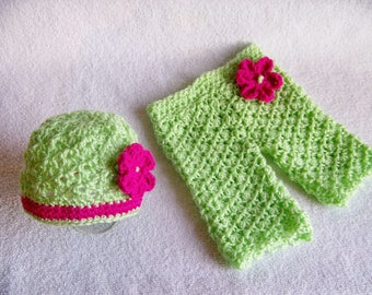 Crochet Baby Outfit - Baby Girl Gift Outfit - Going Home Outfit - Newborn Outfit - Baby Girl Clothes - Hospital Outfit -  Photo Prop