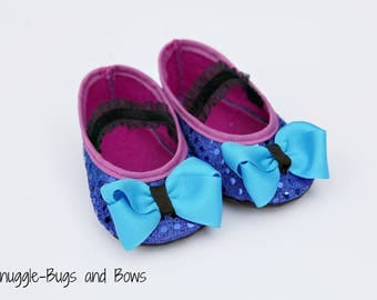Norwegian Princess Play Slippers (Sizes 1 - 12) MEASURE your child's foot PLEASE