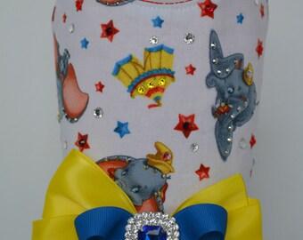 Dog Harness Vest - Elephant Circus Print