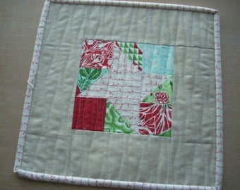 a little jingle star mini quilt snack mat - FREE SHIPPING