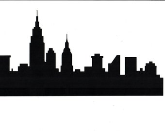 NYC Skyline card size silhouette paper die cut outs (8)