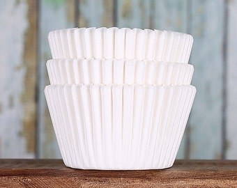 White Cupcake Liners, White Greasepoof Cupcake Liners, White Cupcake Wrappers, Basic White Cupcake Liners, White Baking Cups, Bakery Liners