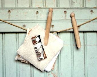 SaleToday Organic Swatch Kit - Terry Sherpa Velour Fleece Sheeting French Terry - 6 Sample Organics