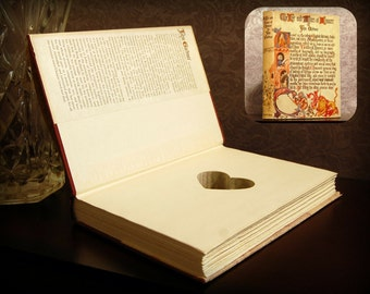 Hollow Book Safe with Heart (Vintage The Life and Times of Chaucer)