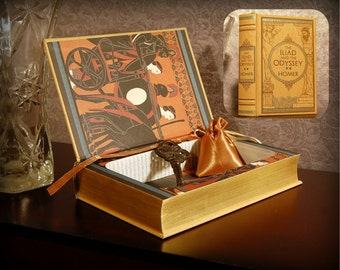 Hollow Book Safe (The Iliad and the Odyssey Leatherbound)