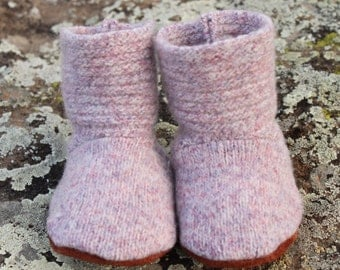 Wool Baby Booties: 0-6mo.