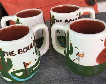 The Boulders Resort Golf Course Coffee Mug Cup Set of 4 Arizona Mug Artist Mug Set