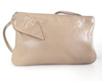 Vintage Brio Tan Leather Bow Purse