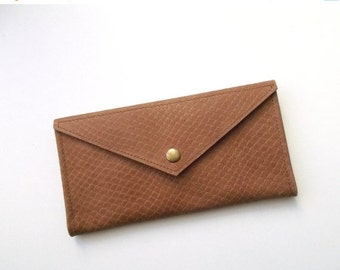 SALE Envelope women leather wallet - Brown leather - Leather wallet