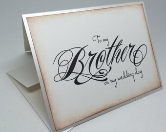 Always My Brother Always My Friend Wedding Card, Brother Card, To my brother on my Wedding Day Card, Card for Brother
